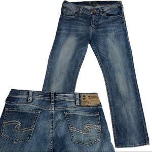 Silver Mens Straight Leg Dark Med Nash Jeans 33x30